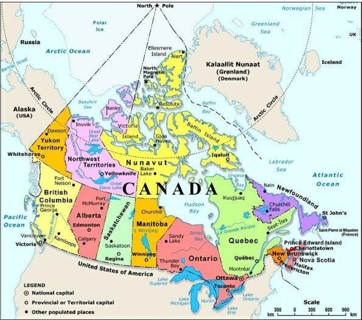 America Occidentale Cartina.Canada Occidentale Mappa Con Le Citta Mappa Del Canada Occidentale Con La Citta America Del Nord America